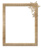 Cardboard winter frame Royalty Free Stock Photography