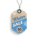 Cardboard Winter Sale Classic Price Sticker Royalty Free Stock Photos