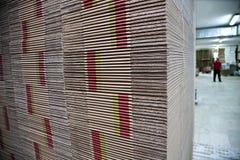 Cardboards σωρών Στοκ Εικόνα
