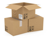 Cardboards box Royalty Free Stock Photo