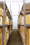 Cardboards box with in the warehouse. Cardboards box with products in the warehouse Stock Image