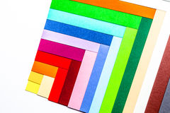 Cardboards of colors Royalty Free Stock Photo