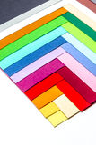Cardboards of colors Royalty Free Stock Images