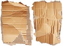 Cardboards. Isolated on white background Stock Photo