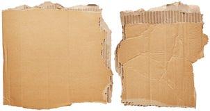Cardboards. Isolated on white background Stock Image