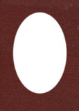 Cardbord background with oval isolated hole Royalty Free Stock Image