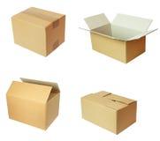 Cardbord del pacchetto della casella Fotografia Stock