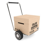 CardBox with cart Royalty Free Stock Images