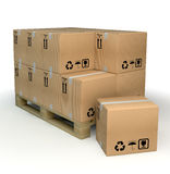 Cardboxes Royalty Free Stock Photography