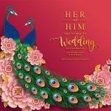 Carddian πρότυπα καρτών γαμήλιας πρόσκλησης γαμήλιας πρόσκλησης InIndian το χρυσό που διαμορφώνεται με και κρύσταλλα στο υπόβαθρο διανυσματική απεικόνιση