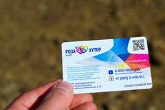 Carde la estación de esquí de Rosa Khutor del esquí-paso, Krasnaya Polyana, Sochi Imágenes de archivo libres de regalías