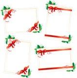 carde le retrait de Noël modelant la pâte à modeler Photographie stock libre de droits