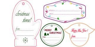 carde le retrait de Noël modelant la pâte à modeler Photos stock