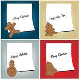 carde le retrait de Noël modelant la pâte à modeler Image libre de droits
