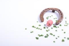 Carde o conceito pelo ano novo feliz com ferradura Imagem de Stock