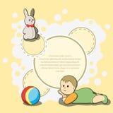 Carde para la enhorabuena de los niños Foto de archivo libre de regalías