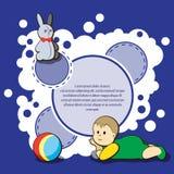 Carde para la enhorabuena de los niños Imagen de archivo libre de regalías