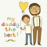 Carde para o dia de pais Fotografia de Stock