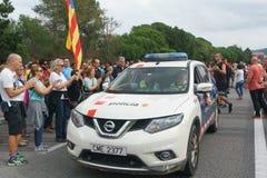 Cardedeu, Catalonië, Spanje, 3 Oktober, 2017: het paceful mensen snijden stock afbeelding
