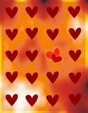Cardez à Valentine le jour avec des coeurs. Photo libre de droits