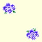Cardez avec des bouquets de fleurs Images stock