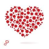 Cardez avec la Saint-Valentin de coeurs Images libres de droits