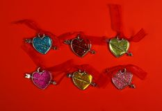 Cardez en jour de Valentine Image libre de droits