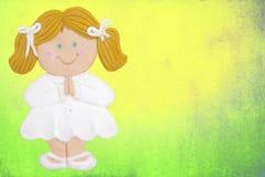 Cardez la première fille de communion Photos stock