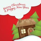 cardez la salutation de Noël Images stock