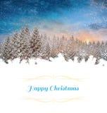 cardez la salutation de Noël Image libre de droits