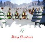 cardez la salutation de Noël Photographie stock