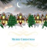 cardez la salutation de Noël Photos stock