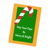 cardez la salutation de Noël illustration libre de droits