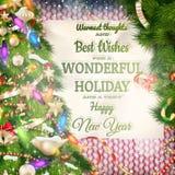 cardez la salutation de Noël ENV 10 Images libres de droits