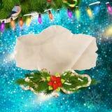 cardez la salutation de Noël ENV 10 Photos stock
