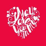 Cardez le descripteur Mon amour Affiches ou cartes postales Lettrage pour l'invitation, la carte de voeux, les copies et les affi Photo stock