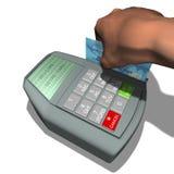 cardez le terminal de crédit Image libre de droits