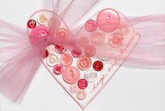 Cardez pour le jour de Valentines Photographie stock
