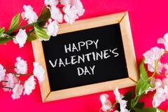 Cardez pour le jour de valentines avec le jour de valentines heureux des textes Image libre de droits