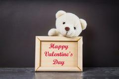 Cardez pour le jour de valentines avec le jour de valentines heureux des textes Photos libres de droits