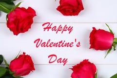 Cardez pour le jour de valentines avec le jour de valentines heureux des textes Images libres de droits