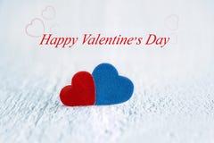 Cardez pour le jour de valentines avec le jour de valentines heureux des textes Concept Photos stock