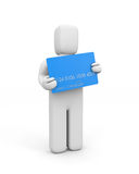 Cardholder. Person hold credit card Royalty Free Stock Photo