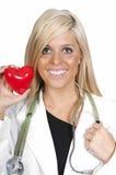 Cardiólogo de sexo femenino Imágenes de archivo libres de regalías
