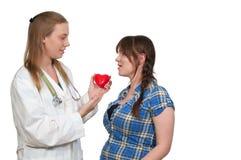 Cardiólogo de sexo femenino Fotografía de archivo libre de regalías