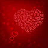 Cardi con il San Valentino dei cuori Immagini Stock Libere da Diritti