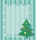 Cardi con l'albero di Natale Fotografie Stock Libere da Diritti