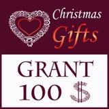 Cardi per i regali di Natale con cuore decorativo illustrazione vettoriale