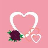 Cardi per il giorno di biglietti di S. Valentino, l'invito o il congratulat Fotografia Stock Libera da Diritti