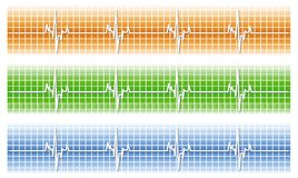 Cardiac. Vector rendition of a heart monitor Royalty Free Stock Photography